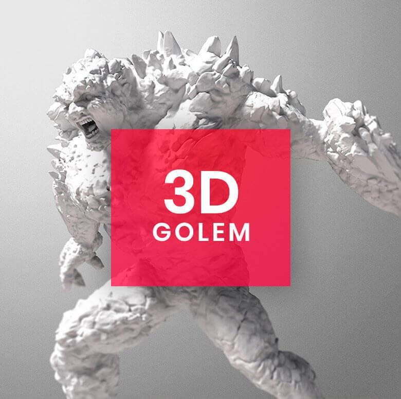 3D Character Design: Golem