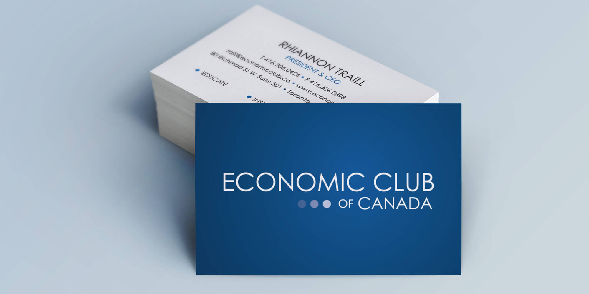 Economic Club of Canada - Brand and business card design