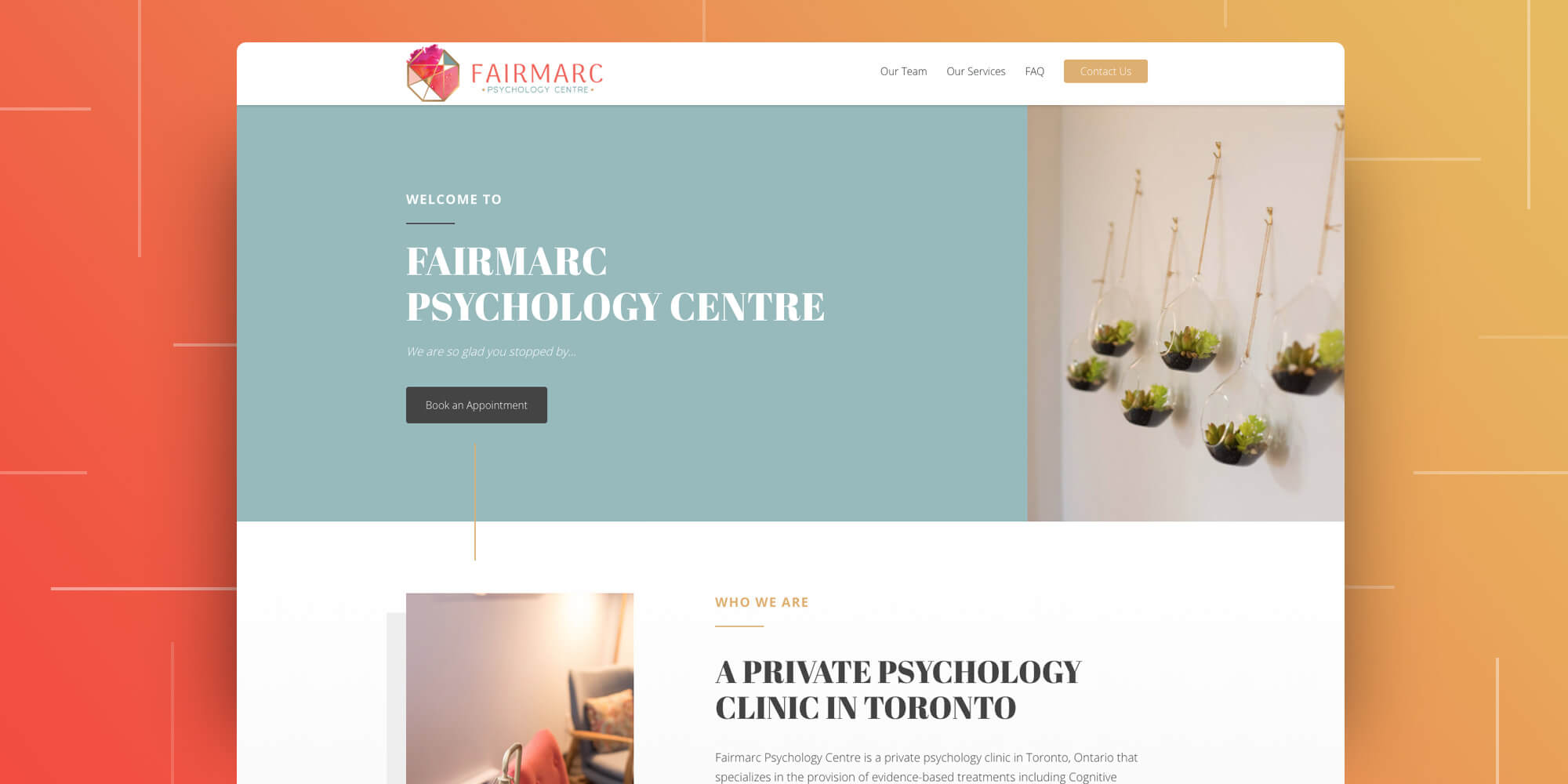 Fairmarc Psychology Centre Layout