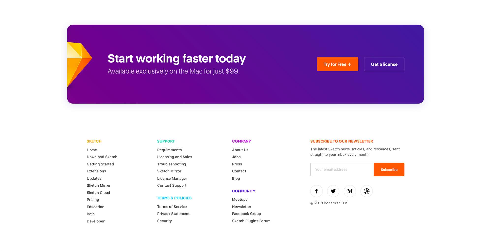 sketchapp.com Footer