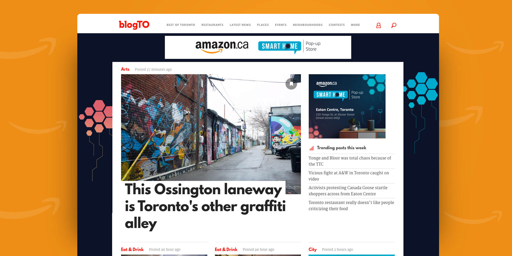 Amazon Smart Home Pop-up BlogTO takeover