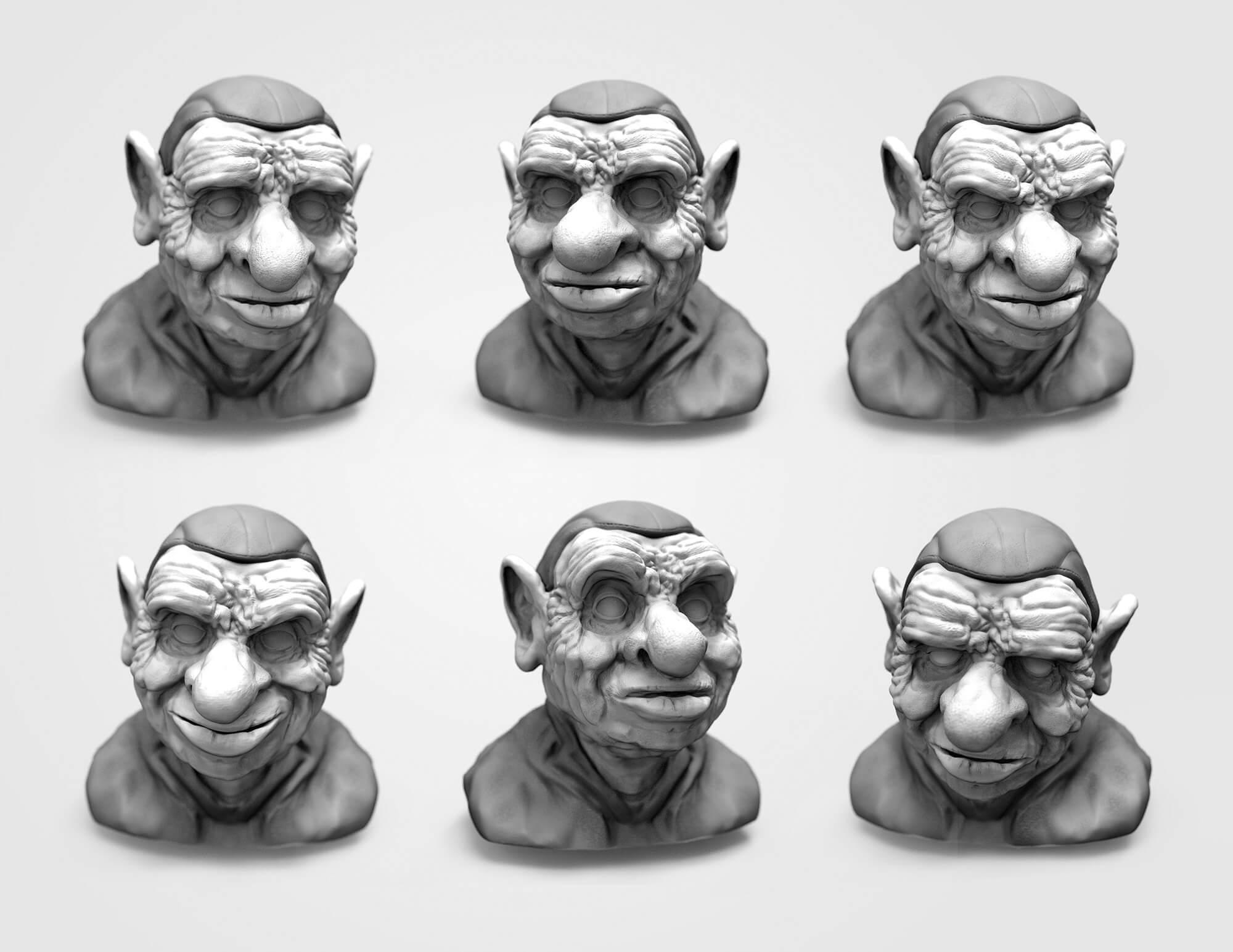 Facial expression study