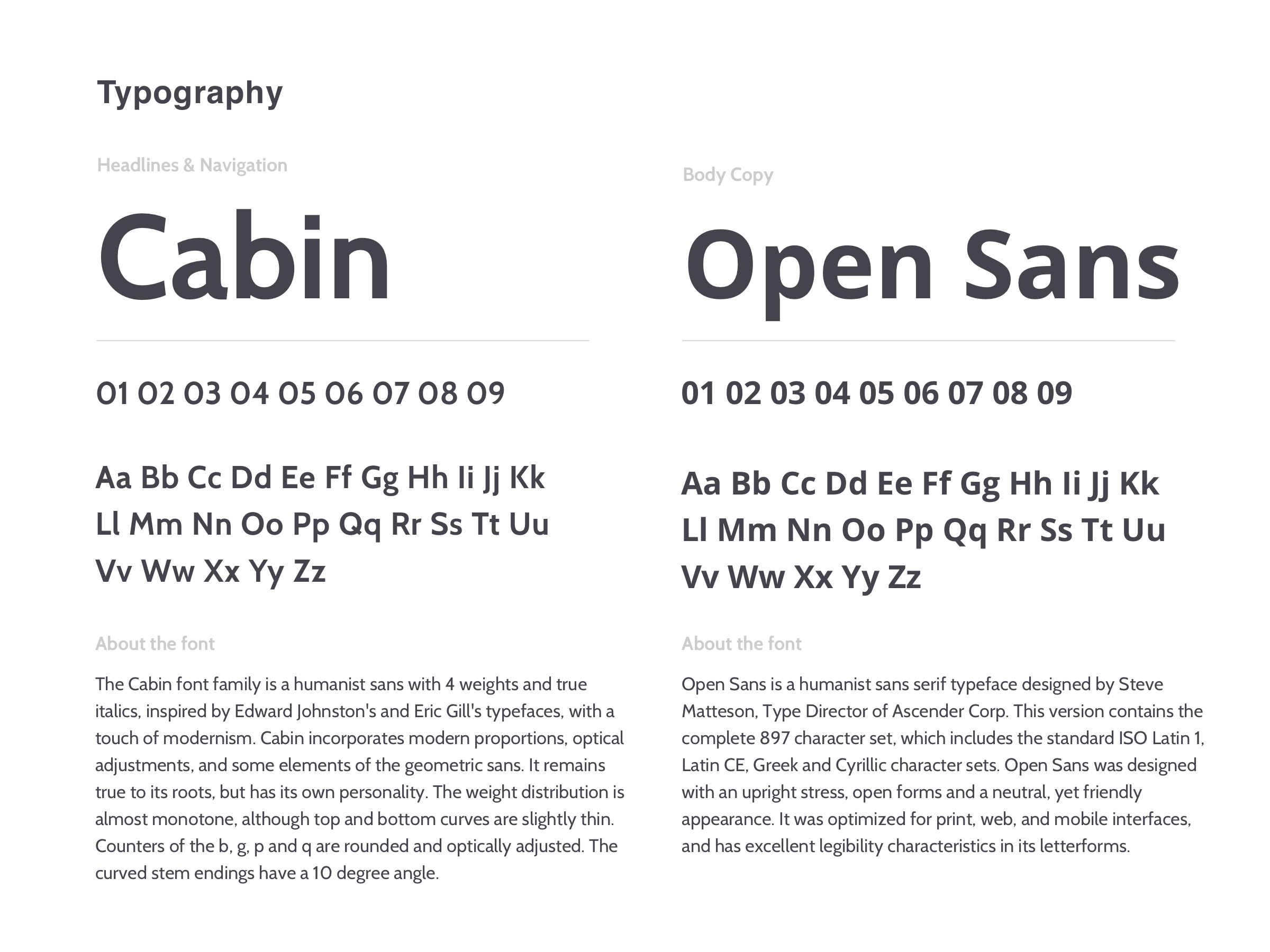 Typography Breakdown